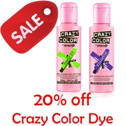Crazy Color Sale – 20% off Hair Dye