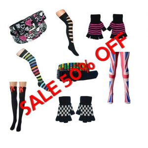 All fashion items are 50% off